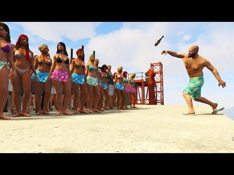 GTA 5 FAIL Compilation (GTA V 100 People vs Molotov Funny Moments Thug life)