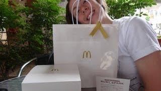 McDonald's Japan - Unboxing the Ruby Spark Quarter Pounder | 日本マクドナルドのクォーターパウンダー  ルビースパーク