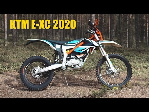 EPIC ELECTRIC DIRT BIKE FOREST RIDE - KTM E-XC 2020