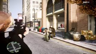 GTA 4(Gameplay) Zombie Outbreak Mod with Direct Graphics