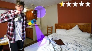 Staying 24 HOURS at the WORST REVIEWED HOTEL Ever Challenge...