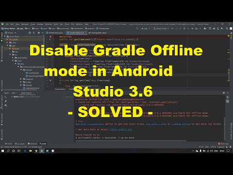 Disable Gradle Offline Mode In Android Studio 3.6 - TWO METHOD TO SOLVED - 100%