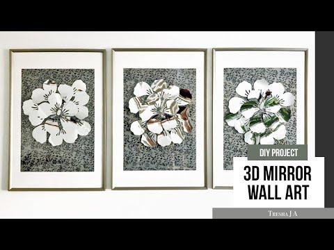 DIY 3D Mirrored Wall Art