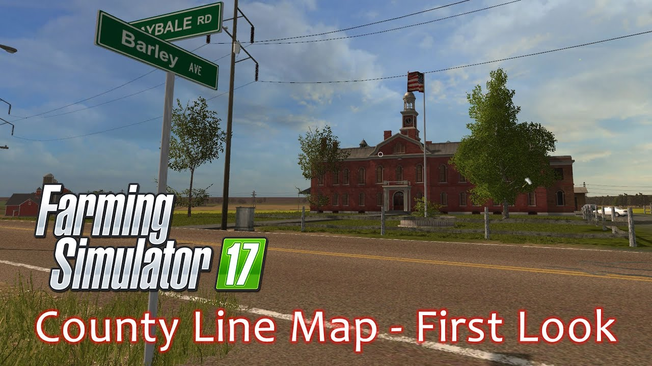 County Line Map USA PC First Look Farming Simulator YouTube - Fs 17 us map
