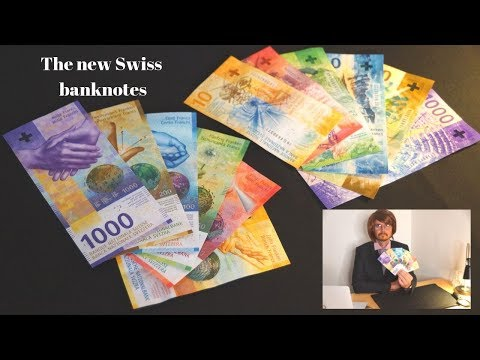 The new Swiss banknotes came out! The most beautiful and expensive banknotes! Facets of Switzerland.