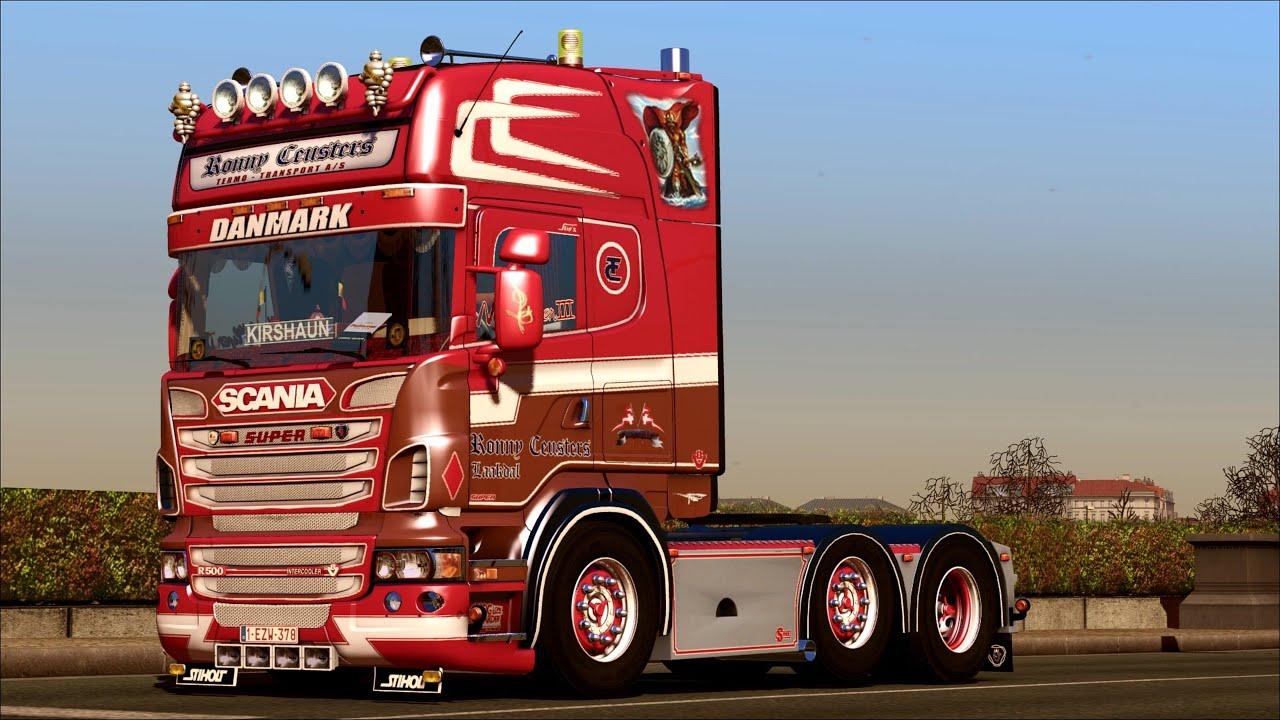 Euro Truck Simulator 2 Scania V8 Ronny Ceuster - YouTube