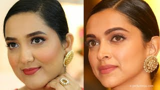 Deepika Padukone Makeup Tutorial in Hindi | Glowy Makeup Tutorial | Perkymegs Hindi