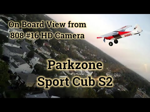 Parkzone Sport Cub Flying At Saw Mill Road School (On-Board)