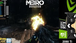 Metro Exodus Extreme Settings , Ultra Ray Tracing + DLSS 4K | RTX 2080 Ti | i9 9900K 5GHz