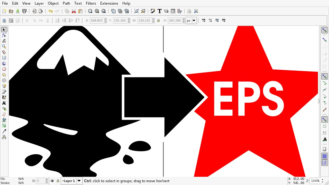 How to make eps file in inkscape youtube how to make eps file in inkscape ccuart Gallery
