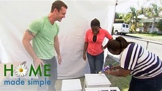 How To Make Classy Mirror Top Tables Affordably | Home Made Simple | Oprah Winfrey Network