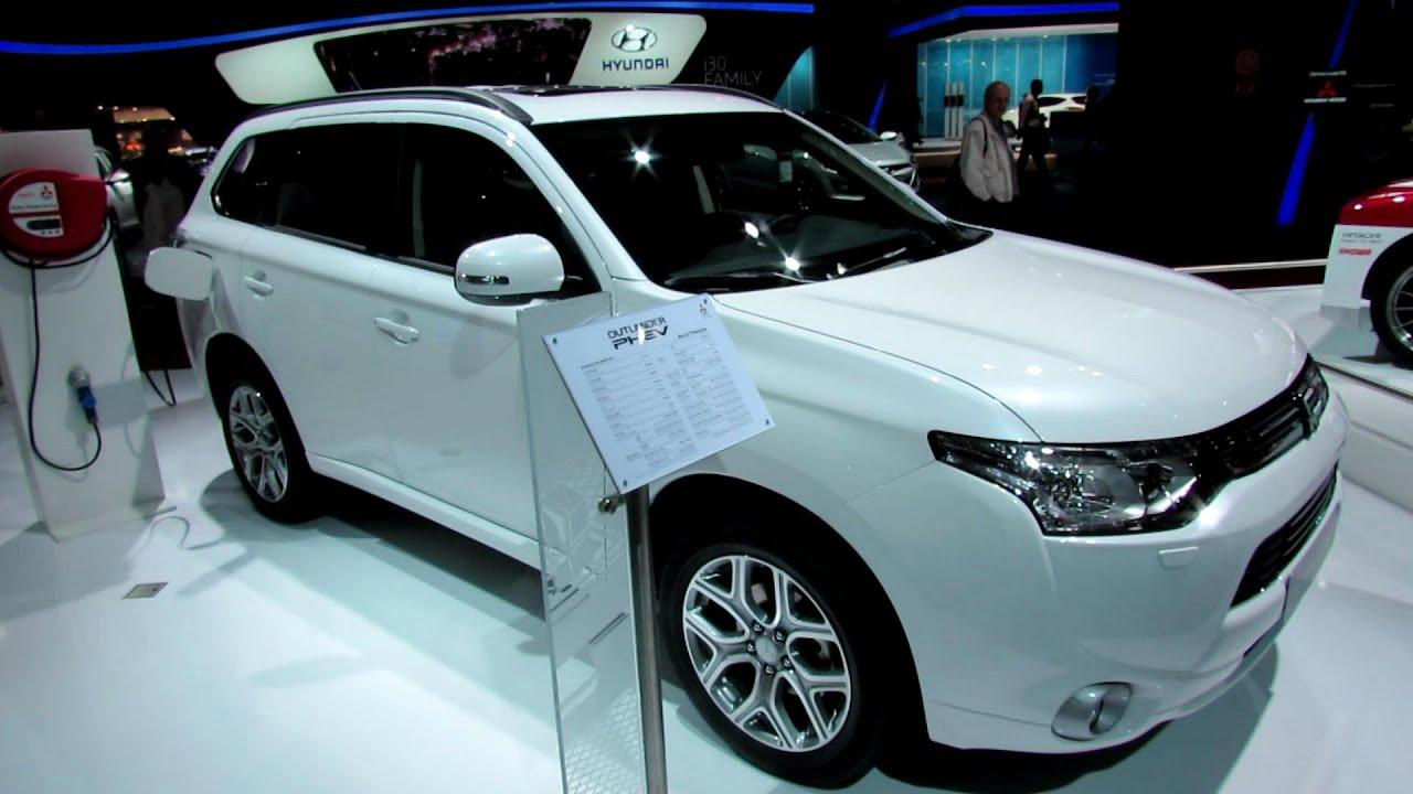 2013 mitsubishi outlander phev hybrid exterior and interior walkaround 2012 paris auto show youtube