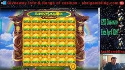 Online Slots Bonus Compilation! Danger, Dragon Born, Rainbow Jackpots Powerlines & More!!