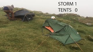 Wild camping in a st๐rm up a Cornish mountain.