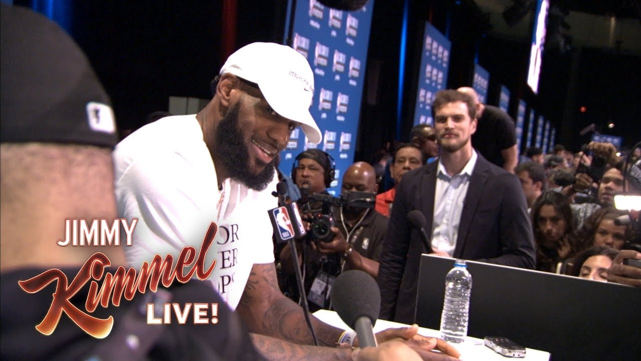 9ecab4b584d Guillermo at NBA All-Star Media Day 2018 – Finding LeBron - YouTube
