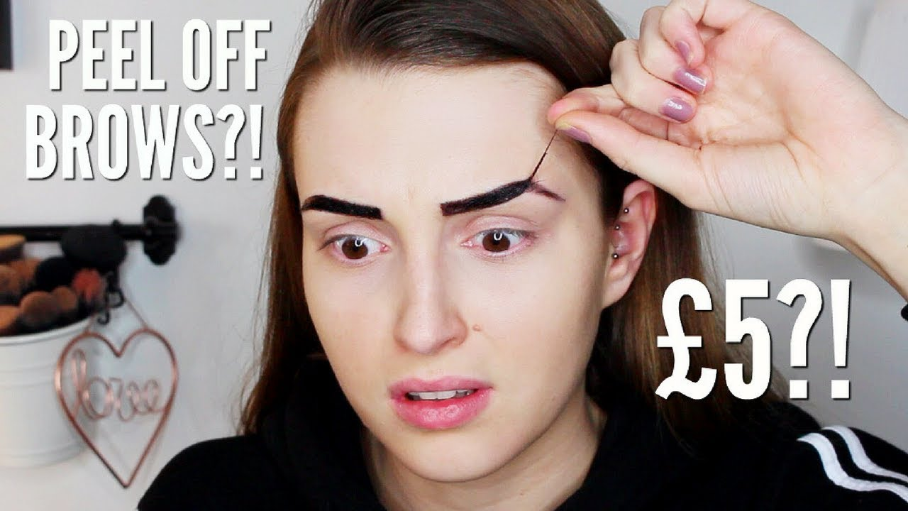 New Makeup Revolution Peel Off Brow Tint Hit Or Miss Youtube
