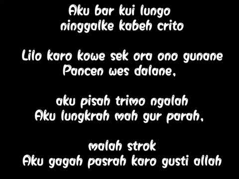 NDX A.K.A - Ojo Nguber Welase (video lirik)