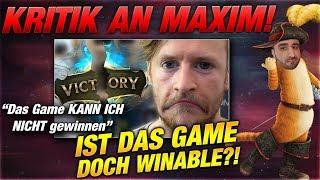 Kritik an Maxim: Das Game kann ich nicht Gewinnen [League of Legends]