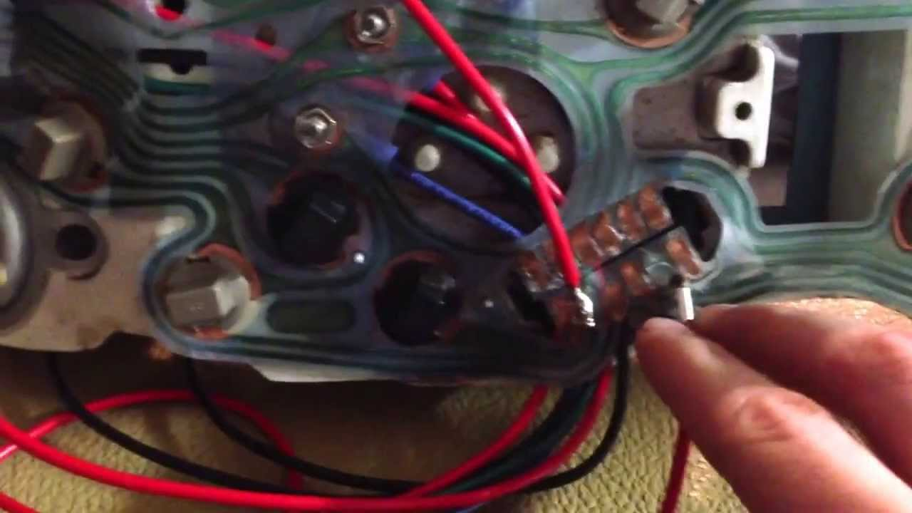 1980 camaro dash wiring help! - YouTube