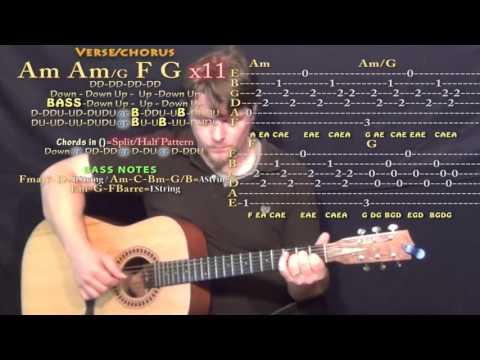 Murder Song (5, 4, 3, 2, 1) - AURORA - Guitar Lesson Chord Chart with TAB
