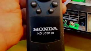 Телевизор HONDA HD LCD150 - игрушка. РЕМОНТ ЖК ТВ. Не включается.