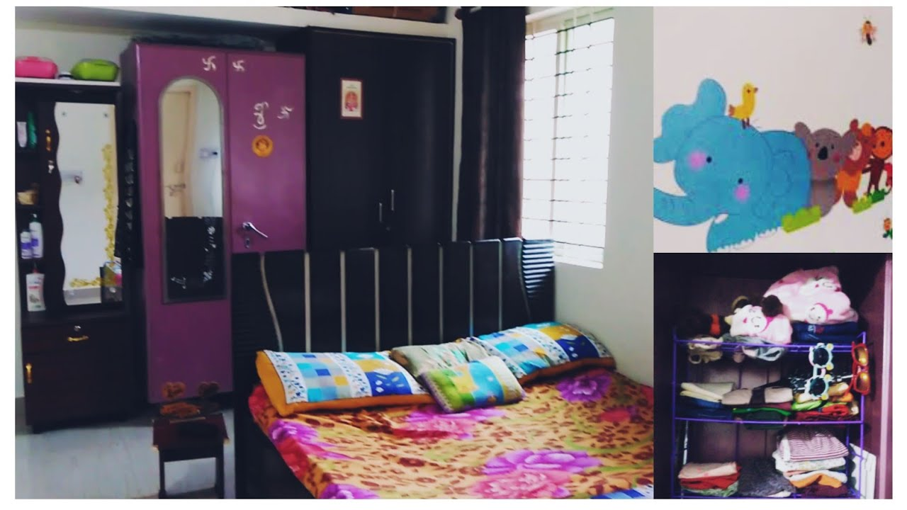 Organisation Of Bedroom Bedroom Tour Indian Middle Class Bedroom Youtube
