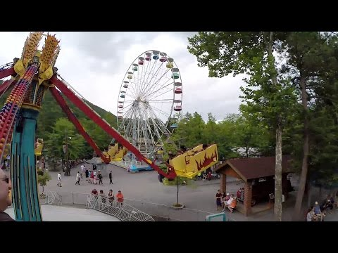 Downdraft Totally Awesome Amusement Park Ride POV Knoebels Pennsylvania