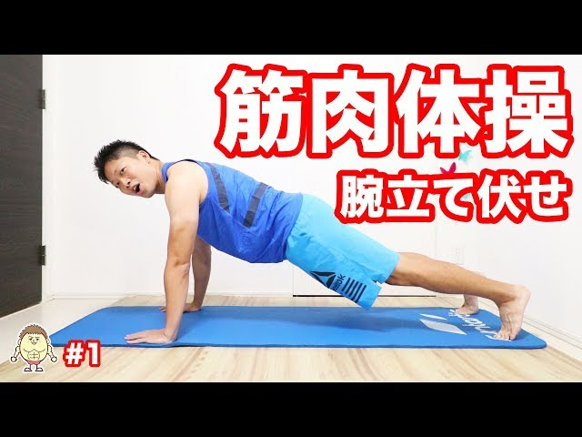 【筋肉体操】腕立て伏せ編#1 | Muscle Watching