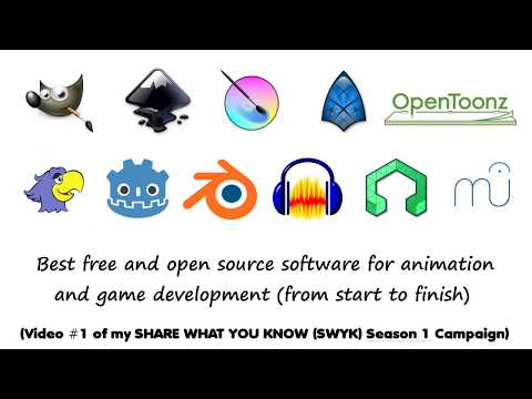 10 free and open source software for animation and game development from start to finish