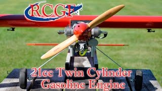 RCGF 21cc Twin Cylinder Gasoline Engine - RCUniverse Review Video