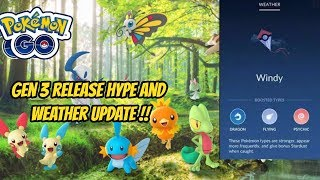 Gen 3 Release and All Weather Update Previews in Pokémon Go