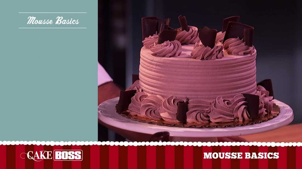 Cake Decorating With Cake Boss : Chocolate Mousse Cake Decoration Basics - Dessert ...