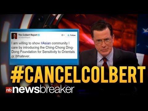 Colbert Tweet Triggers Firestorm, #CancelColbert Twitter Trend