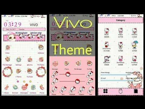 Vivo Phone Theme Hello Kitty Pink Youtube
