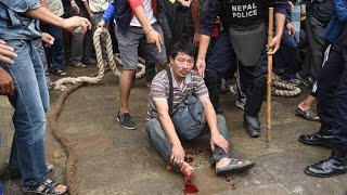 Two injured in attempt to raise Indra Jatra pole