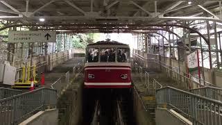 2018年10月24日 南海鋼索線(高野山ケーブル)極楽橋駅 「コ22」発車シーン