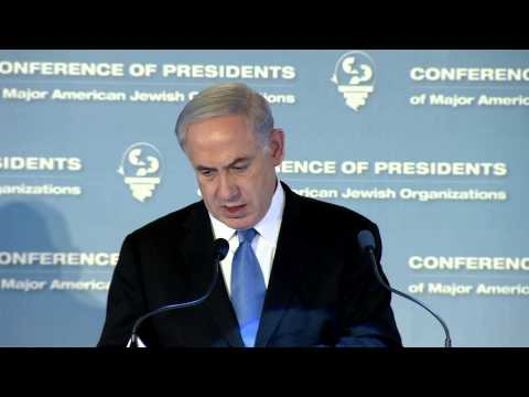 PM Netanyahu's Remarks at the Conference of Presidents
