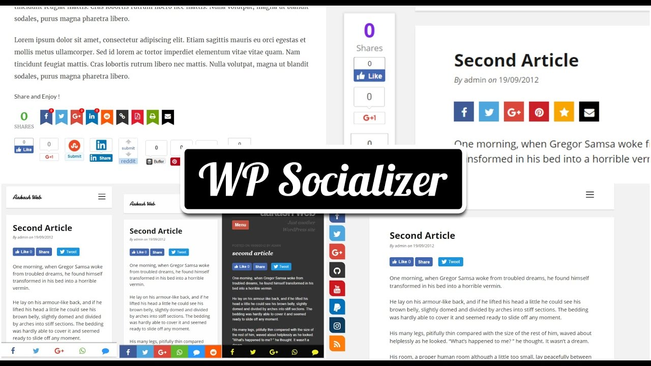 WP Socializer – WordPress plugin | WordPress org