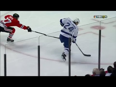 Callahan rips opening goal past Crawford's glove