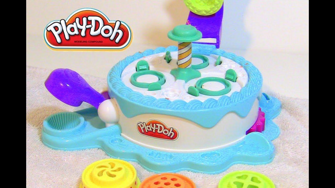 Play Doh Cake Cupcake Maker Toy Play Set Shoppe Youtube