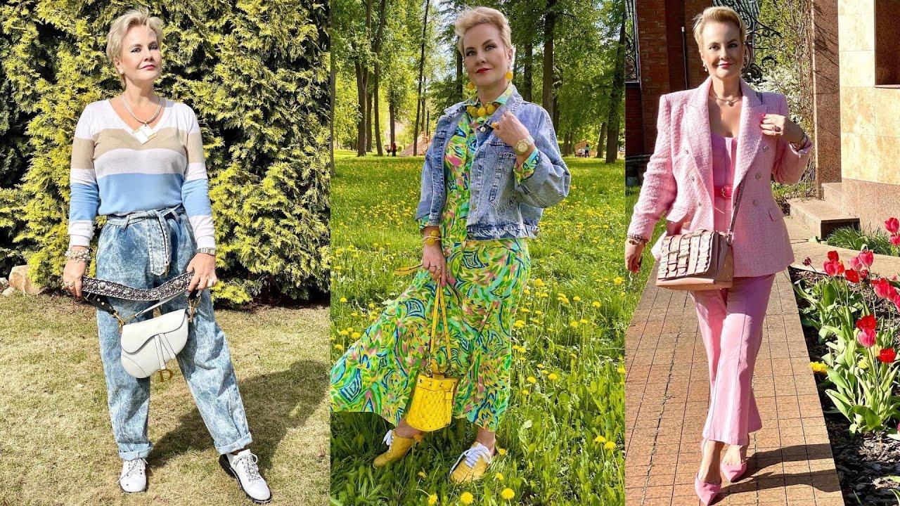 Стиль и гардероб позитивной, красивой 59-летней женщины. Столько красоты! 🔥🔥🔥🔥🔥