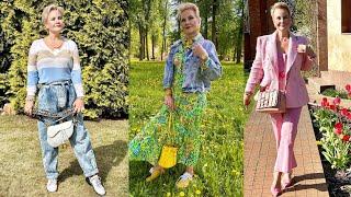 Стиль и гардероб позитивной красивой 59 летней женщины Столько красоты