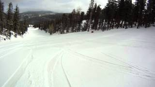 Snowboarding down Hully Gully, Rip Cord, Lower Minder Binder at Angel Fire, NM - 3/19/2012 .1