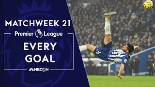 Every goal from Matchweek 21 in the Premier League  NBC Sports