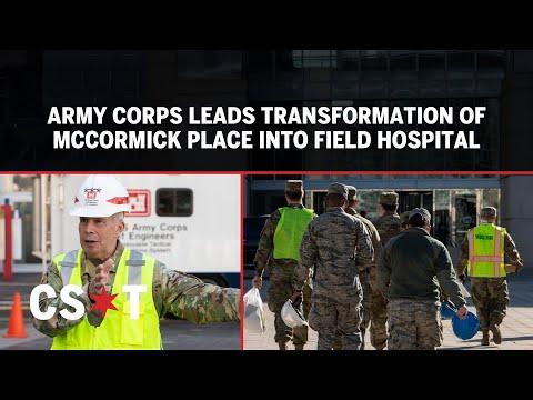 U.S. Army Corps Of Engineers Leads Transformation Of McCormick Place Into Coronavirus Field Hospital