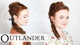 18th Century Colonial Style Updos from Outlander Season 4 (Claire & Brianna)