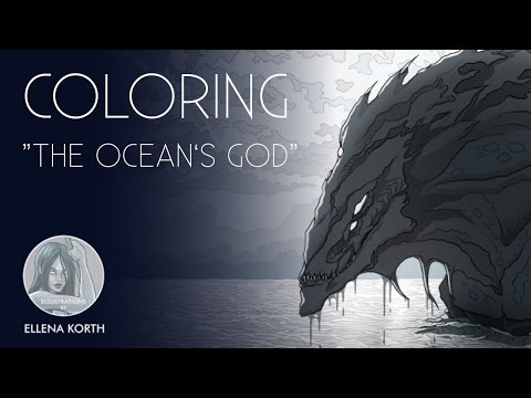 Creature Design | The Ocean's God | Illustration | Coloring