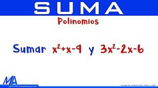 Suma de expresiones algebraicas | Ejemplo 2 Polinomios