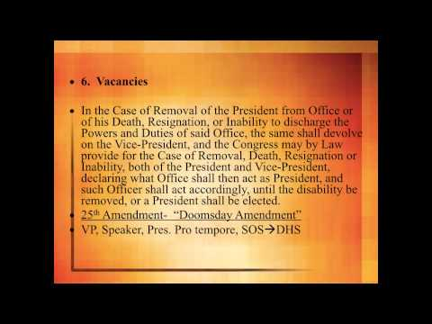 Article II President & Executive Branch