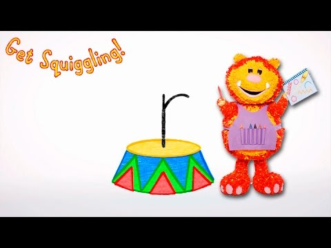 Get Squiggling Letters   Letter R